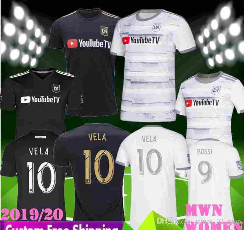 sale retailer febcc 71ae3 men women 2019 2020 la Los Angeles fc LAFC soccer Jerseys 19 20 ZIMMERMAN  GABER ROSSI CIMAN VELA FOOTBALL girl black white SHIRTS SIZE S-XXL
