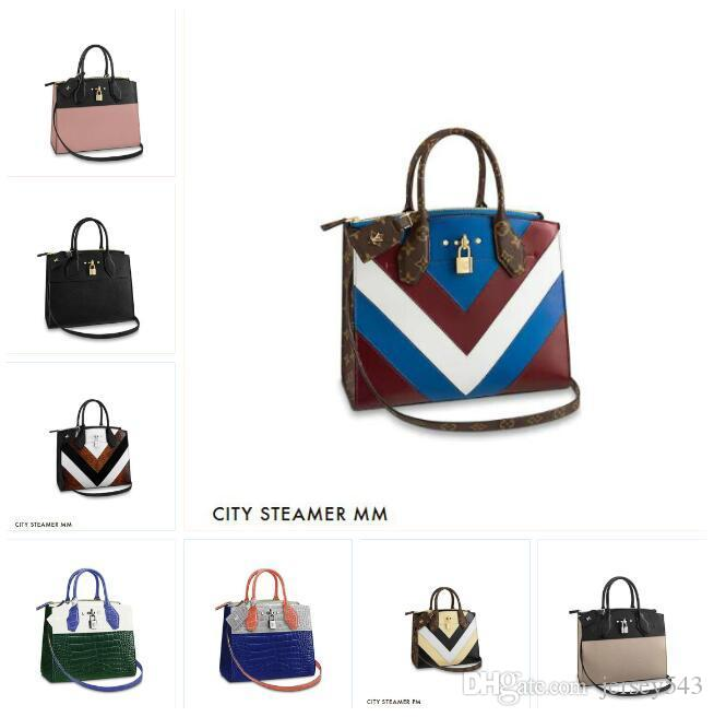 f4d8f6ff2ed Brand fashion luxury designer bags Womens LVLV Lady Cheap Handbag backpack  crossbody tote bag Handbags All Handbags CITY STEAMER MM M52833