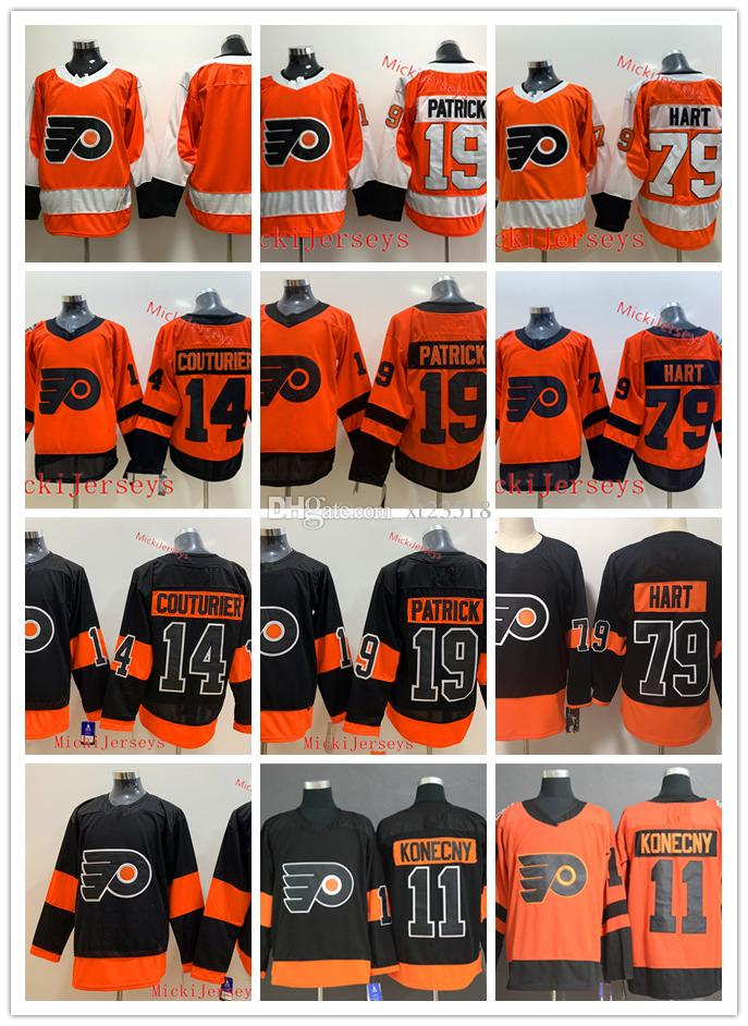 newest collection 81040 499bb Philadelphia Flyers Carter Hart Jersey 11 Travis Konecny 14 Sean Couturier  19 Nolan Patrick Philadelphia Flyers 2019 Stadium Series Jersey