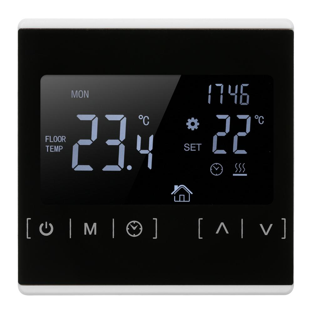 LCD Touch Screen Thermostat Electric Floor Heating System Water Heating Thermoregulator Temperature Measuring Tool