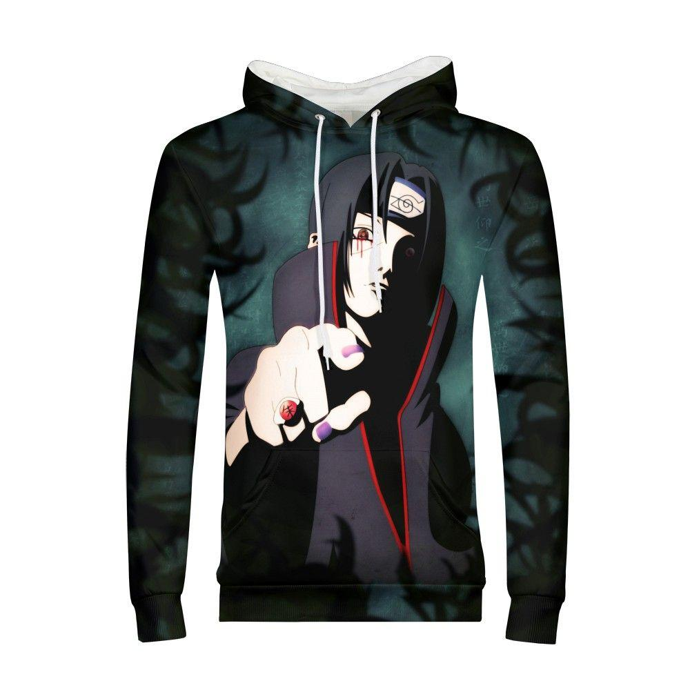 3acb00db2 2019 Hot Anime Naruto Hoodies Men Women Winter Pullovers 3D Hooded ...