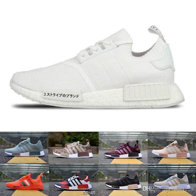 3abe1a7de NMD R1 Undefeated Primeknit PK Running Shoes Men Women Brown Black ...