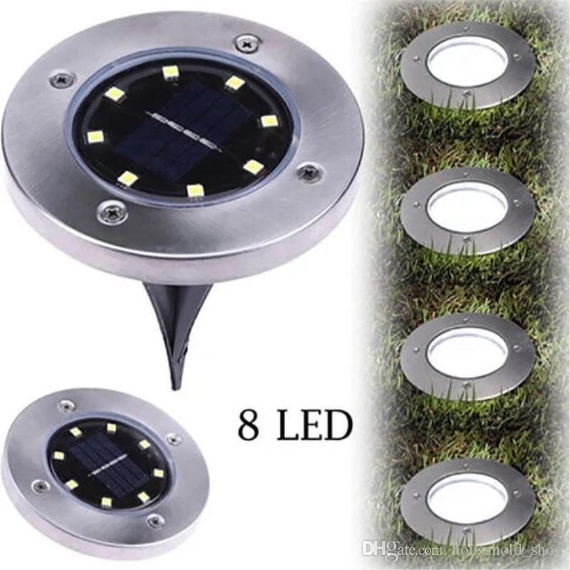Énergie solaire 8 LED éclairage 4 LED Lumière souterraine pour lampe de  décoration de jardin paysage pelouse jardin chemin extérieur