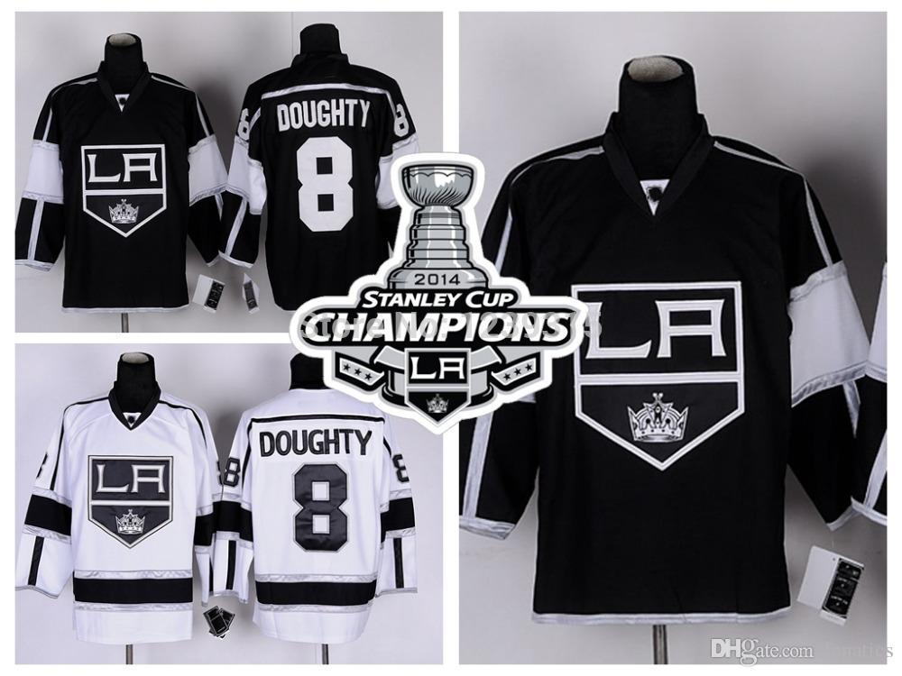 uk availability 44336 6e991 2016 Stanley Cup Champions Los Angeles Kings #8 Drew Doughty LA Kings  Jersey Team Color Home Black Road White Stitched Jerseys