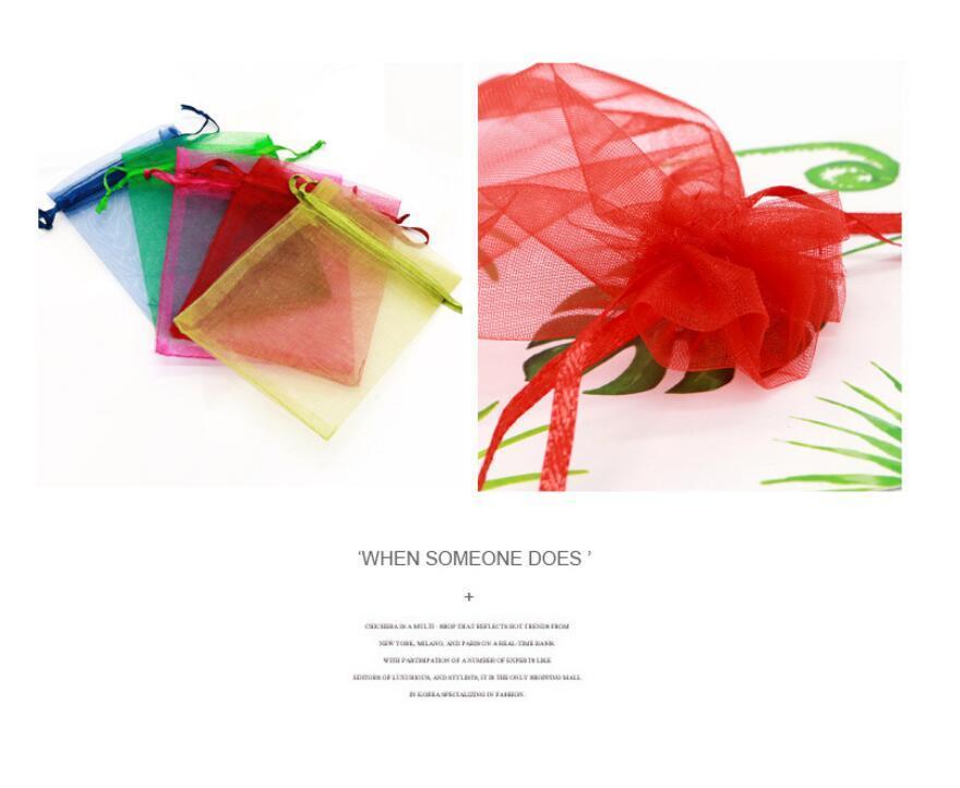 100 unids es Joyería Bolsa 8x10 cm Pequeño Regalo de Boda Organza bolsa Joyería Embalaje Exhibición Bolsas de Joyería para Pendiente