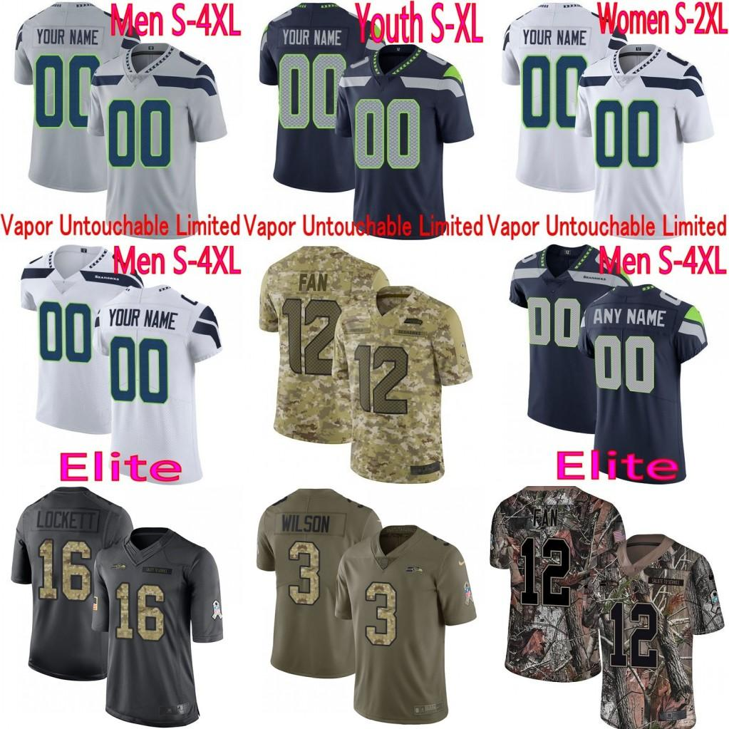 sale retailer 262c4 51ba3 Mens Women Youth Seattle Shaquem Griffin Russell Wilson Michael Dickson  Shaquill Griffin Untouchable Seahawks Elite&Limited Jersey