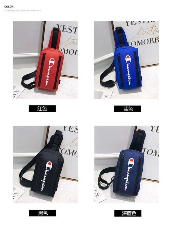 2019 Champion Letter Chest Bags Crossbody Fanny Pack Waist Messenger bags Double Zipper Travel Beach Sports Tote Backpack Shoulder BAG B3292