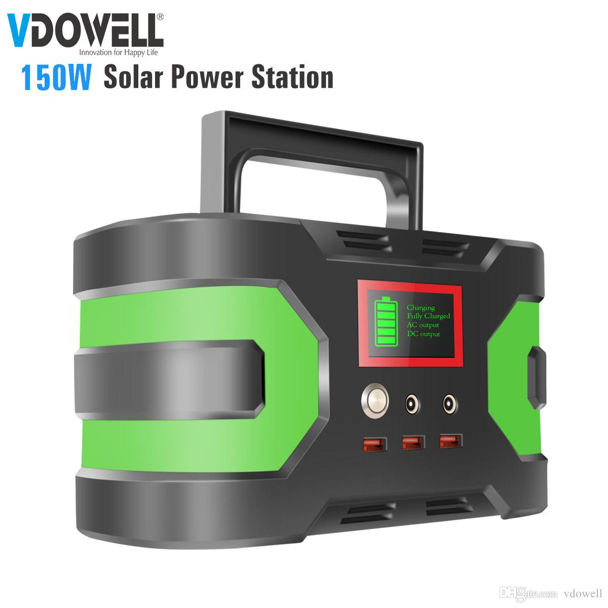 150W 220/110V solar generator inverter mobile Portable Power Supply with  Lithium battery with DC/AC/USB output for Camping Travel Fishing