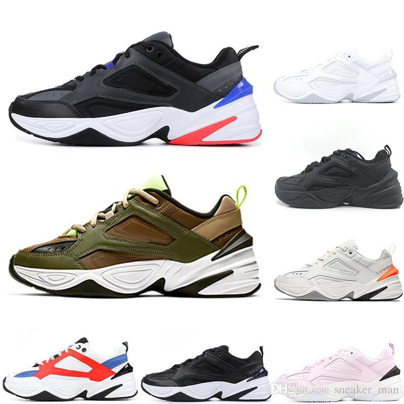 online store d644d a7cd4 Acquista Nike M2K Tekno Vendita Calda Parigi Nero Bianco Rosa M2K Scarpe  Monarch Tekno Papà Sport Scarpe Da Corsa Zapatillas Designer Sneakers  Sportive ...