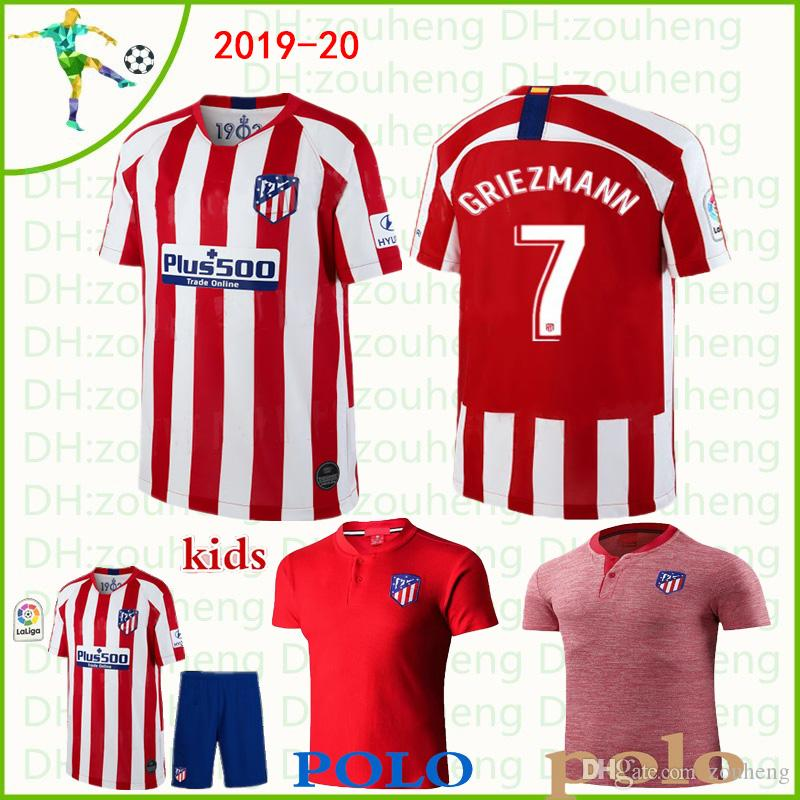 dd48b1037f0 2019 Atletico Madrid Soccer Jersey 2019 20 Home Away THIRD UCL KOKE  GRIEZMANN SAUL GABI DIEGO COSTA Football Shirt Polo Shirt And Kid Kits From  Zouheng, ...