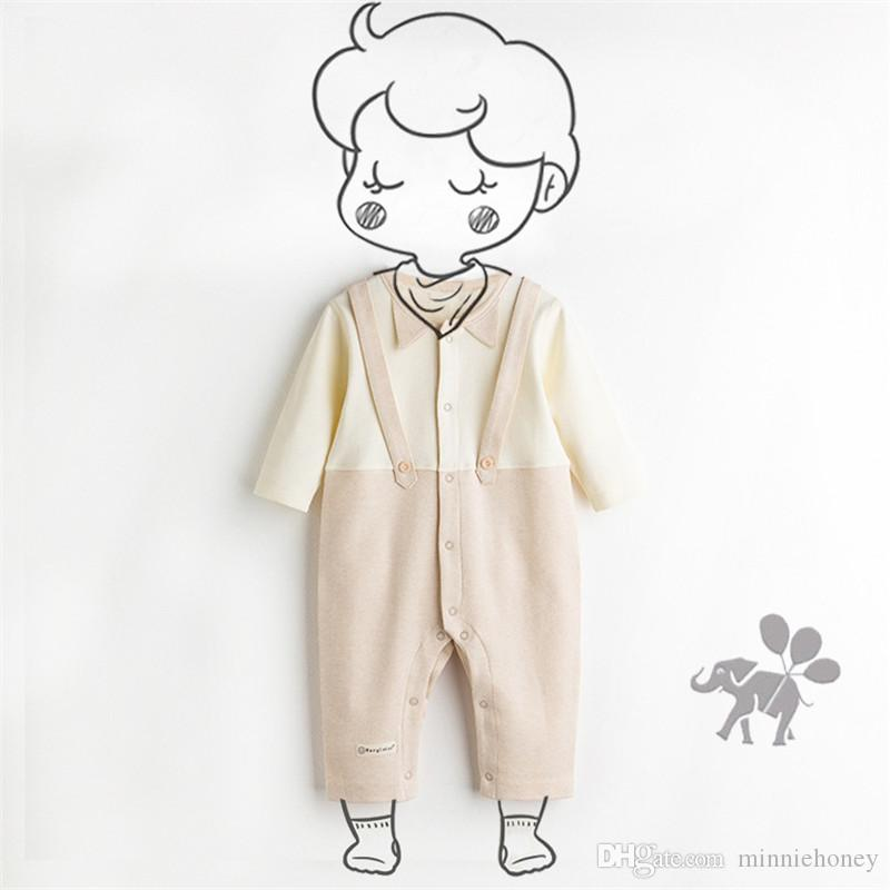 7033f160d 2019 2019 Baby Boy Girl Romper Colored Organic Pure Cotton Clothes Soft  Warm Bow Clothing Spring Autumn Winter Newborn Kids Pajamas From  Minniehoney, ...