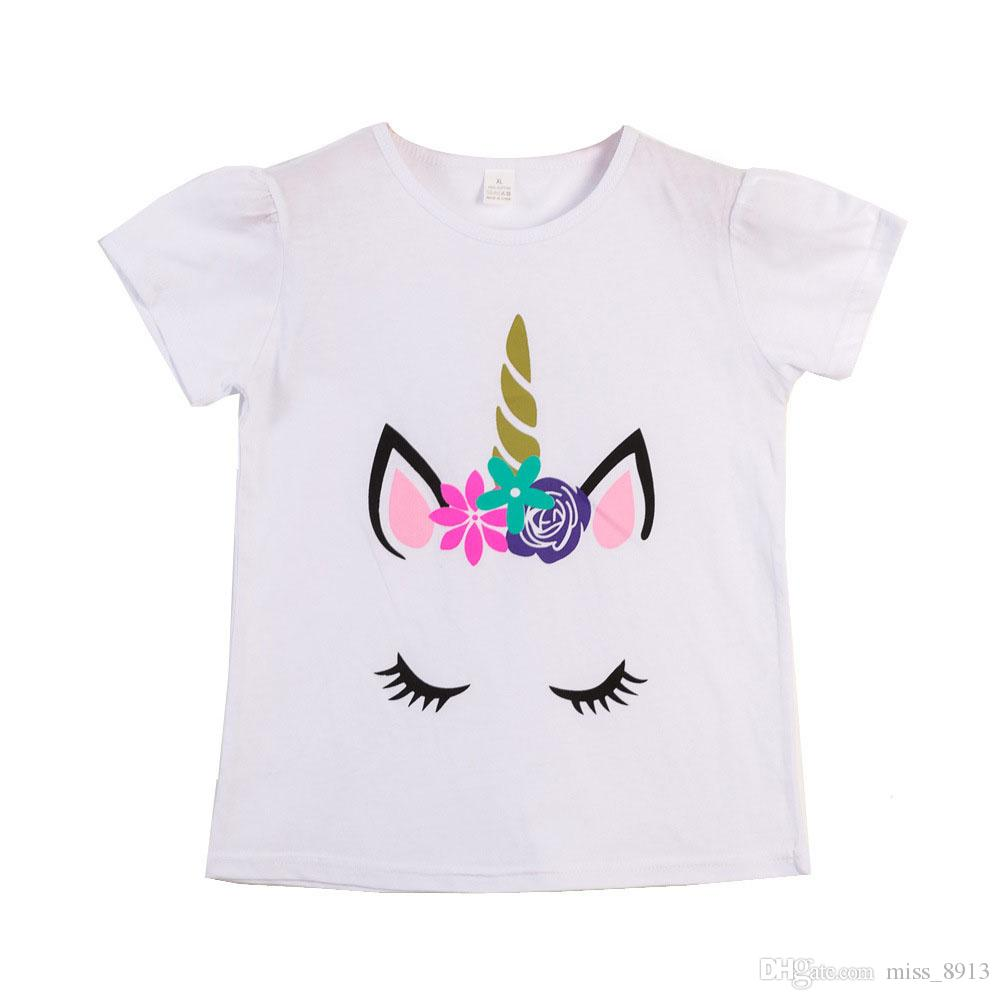 dee1782ab 2019 Girls Summer Tops Children T Shirts Unicorn Animal Baby Girl Clothes Baby  Girls Tshirt Kids Clothing 10 Styles From Miss_8913, $4.43 | DHgate.Com