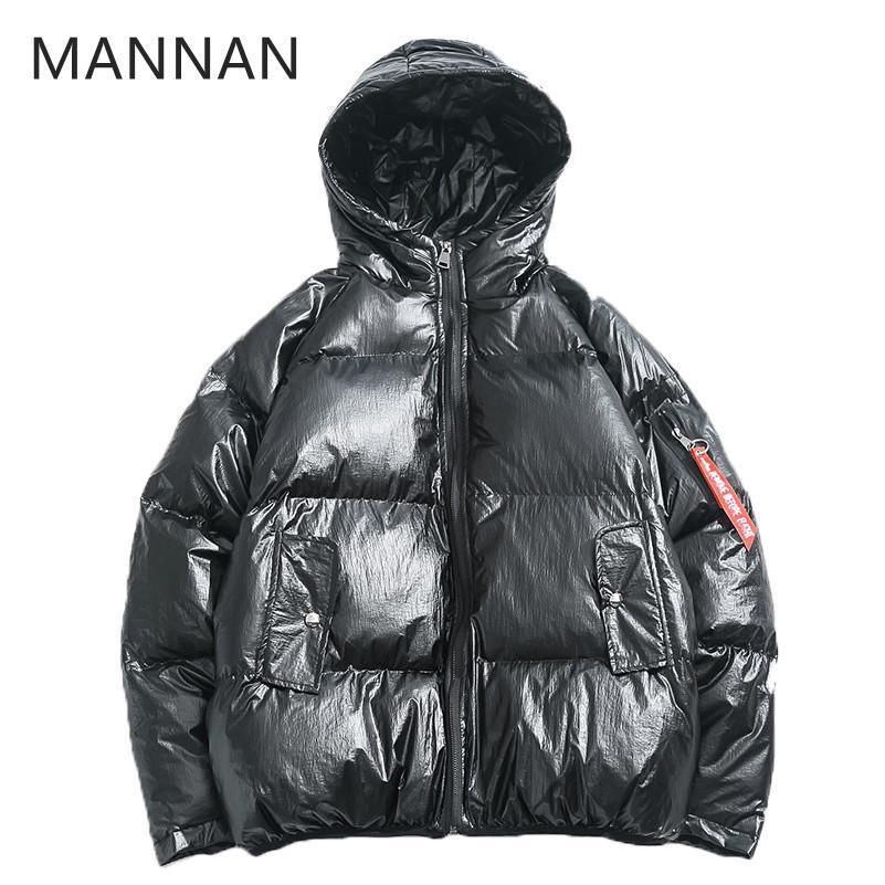 Winterjas Merk.2019 Mannan Winter Jacket Heren Winterjas Mode Hooded Thermische