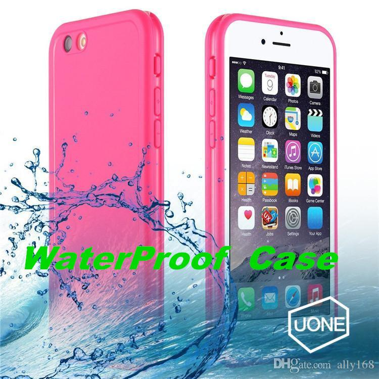 huge selection of aaee9 5448a For Iphone 6 6s Plus Waterproof Cases Shock proof Case Cover 360 All Round  Protective Full Sealed Dust and Snow Proof Case