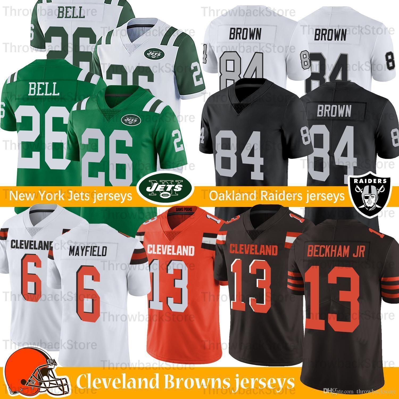 wholesale dealer df2f4 c430b Cleveland Odell Beckham Jr Jersey Browns 6 Baker Mayfield 84 Antonio Brown  26 Le'veon Bell Football Jerseys