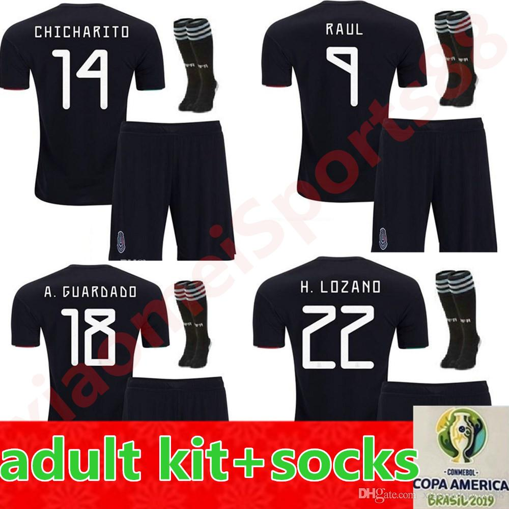 70d1a6ada71 2019 2019 Copa America Mexico Soccer Jerseys Adult Men Kit Full Sets  CHICHARITO Camisetas De Futbol H.LOZANO DOS SANTOS RAUL Football Shirts  From ...