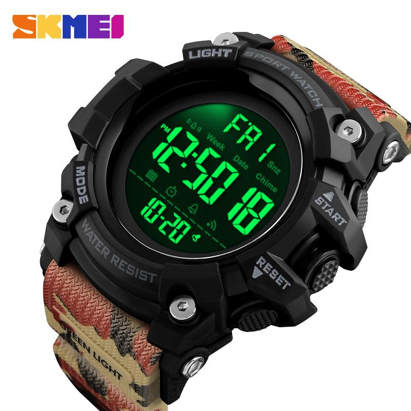 wholesale Outdoor Sport Watch Men Countdown Alarm Clock Fashion Watches 5Bar Waterproof Digital Watch Relogio Masculino 1384