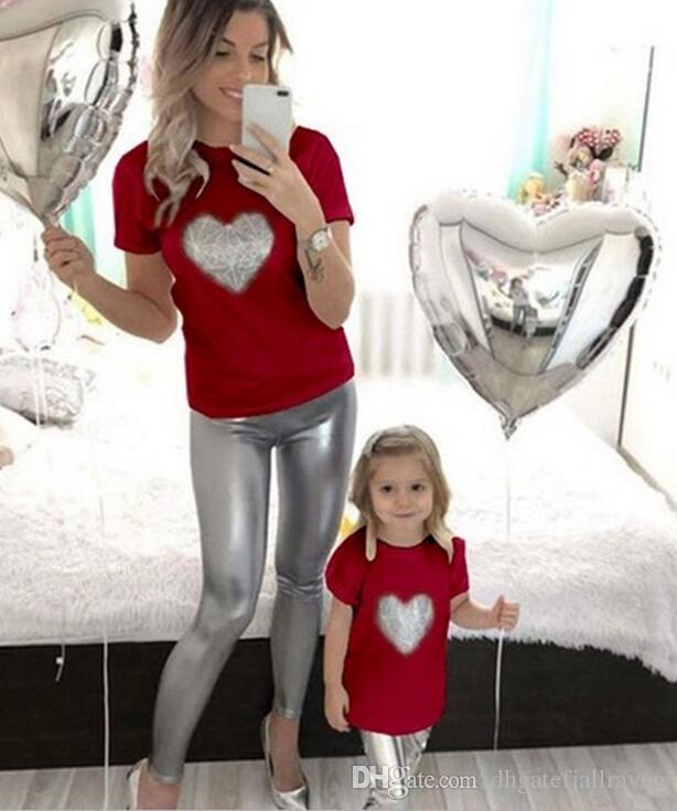 Семейный Пакет Новая Печать Родитель-Ребенок Наряд Досуг Одежда Мать С Дочерью Многоцветный Родитель-Ребенок Один Наряд Скидка Розетка