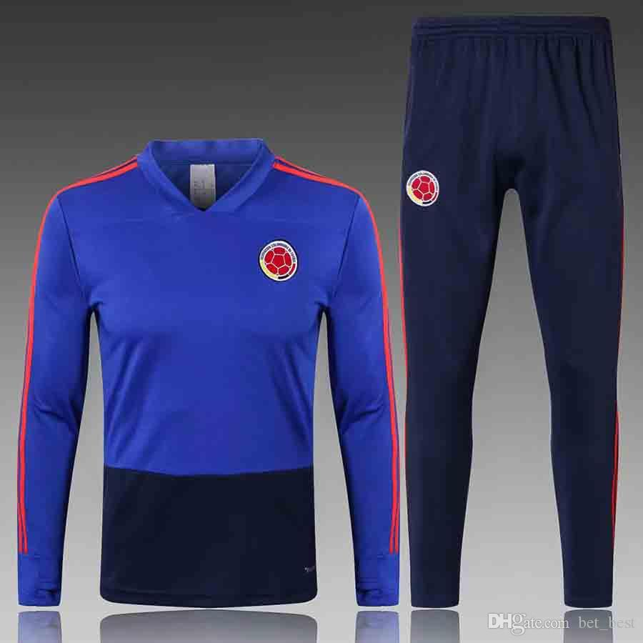 AAA+ 2018 Mens Colombia Training Tracksuit Jacket Mens 18 19 ... 811e7d27c