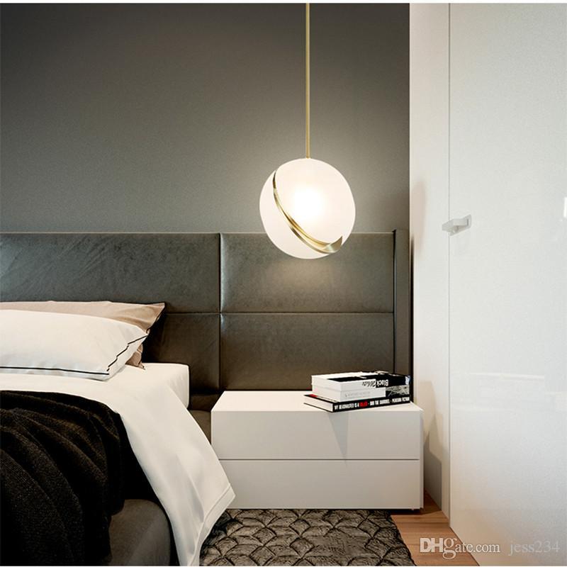Chambre Lampe Art Nordique Balle Suspension Restaurant Loft Led Pendentif Lumières 2019 De Parlor Moderne Chevet SjzVGqMULp