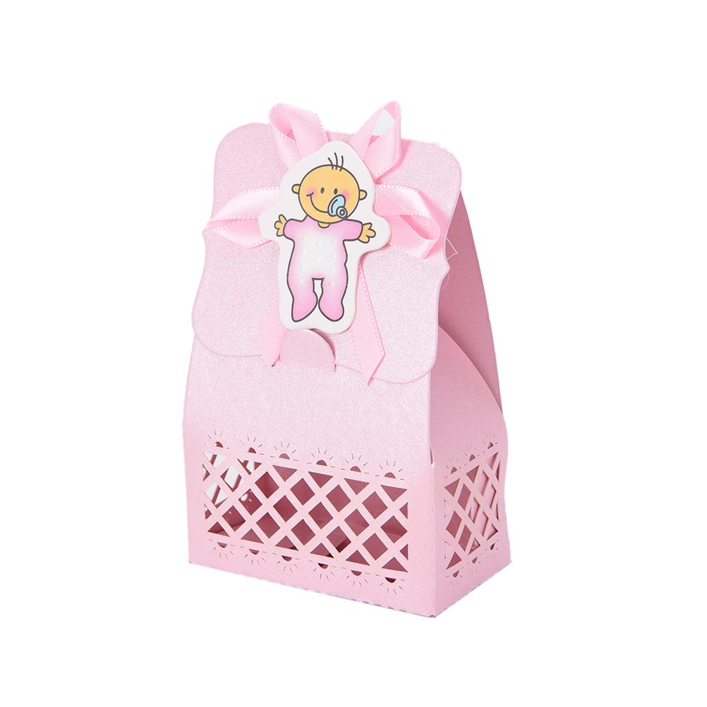 Baby Shower candy box Event Party Supplies Decoration Cute boy and girl Paper Baptism Kid Favors Gift Sweet Birthday Bag