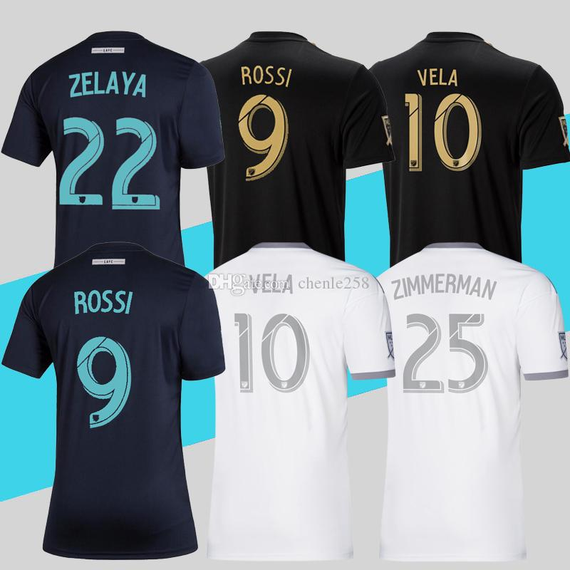 best sneakers bf144 fac94 2019 LAFC Parley Navy Blue Soccer Jerseys Home Away MLS Los Angeles FC  Football Shirt ROSSI VELA More 10pcs Free DHL Shipping