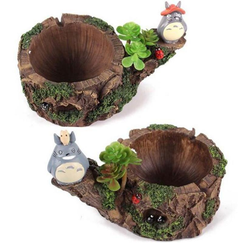 Cartoon Totoro Multi Ashtray Micro Landscape Home Decorative Resin Decoration Christmas Presents Fashion Styles Party Ornaments