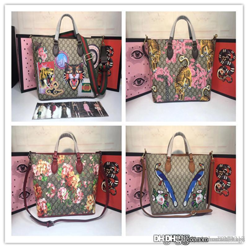 da0618217 2018NO.2GU Large Gg Blooms Reversible Pink Rose Multi Canvas Leather ...