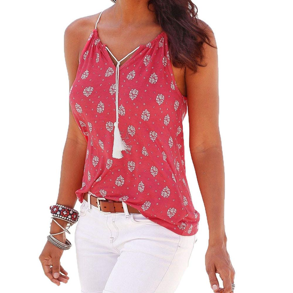 92bfd73556609 2019 Good Quality Women 2019 Summer Tee Tops Print Sleeveless V Neck Vest Shirt  Tank Tops For Womens Fashion Hot Sale Blouse T Shirt S XL From Jincaile05