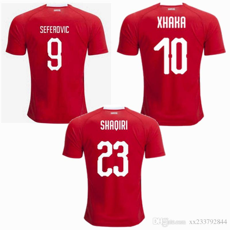 promo code 88c63 8bd72 2019 2020 Switzerland Soccer Jerseys Swiss national team 19 20 football  shirt