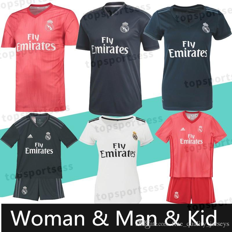 free shipping 43c6c 17bb7 Real Madrid RONALDO #7 MBAPPE #10 soccer jerseys Top quality ISCO #22 RAMOS  RONALDO BENZEMA MODRIC football shirt WOMEN man Kids Kits