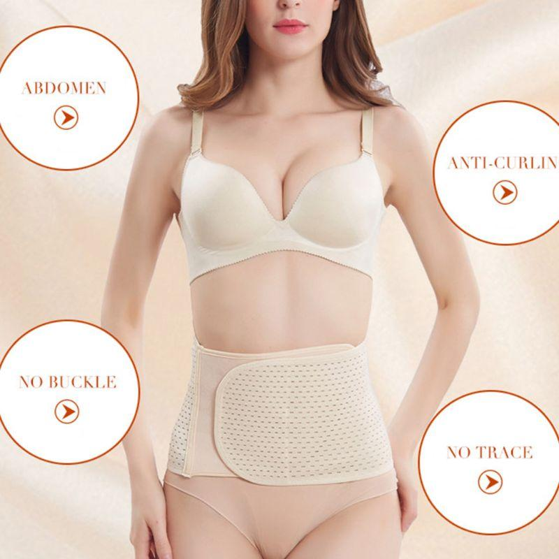 310c3bfdf Women Breathable Elastic Waist Trainer Slimming Wrap Belt Belly Band Tummy  Compression Band Support Girdle Invisible Body Shaper Running Belt Belt  Buckle ...