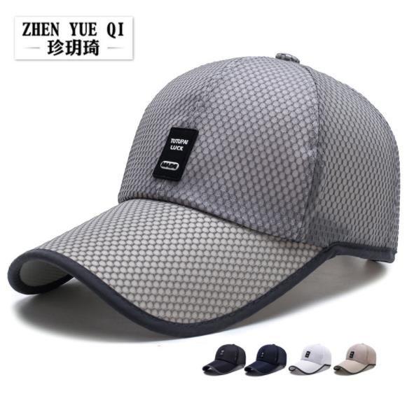 9edd138948d Quick Dry Snapback Baseball Cap Brand Net Cap Summer Sun Hip Hop Dad ...