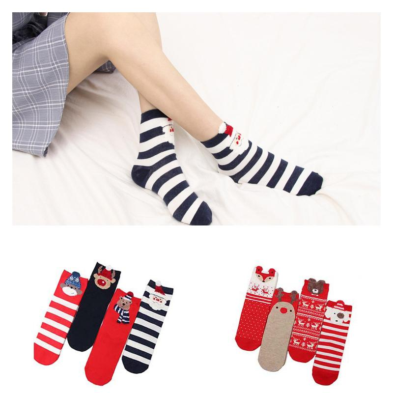 Men High Ankle Cotton Crew Socks Merry Christmas Casual Sport Stocking