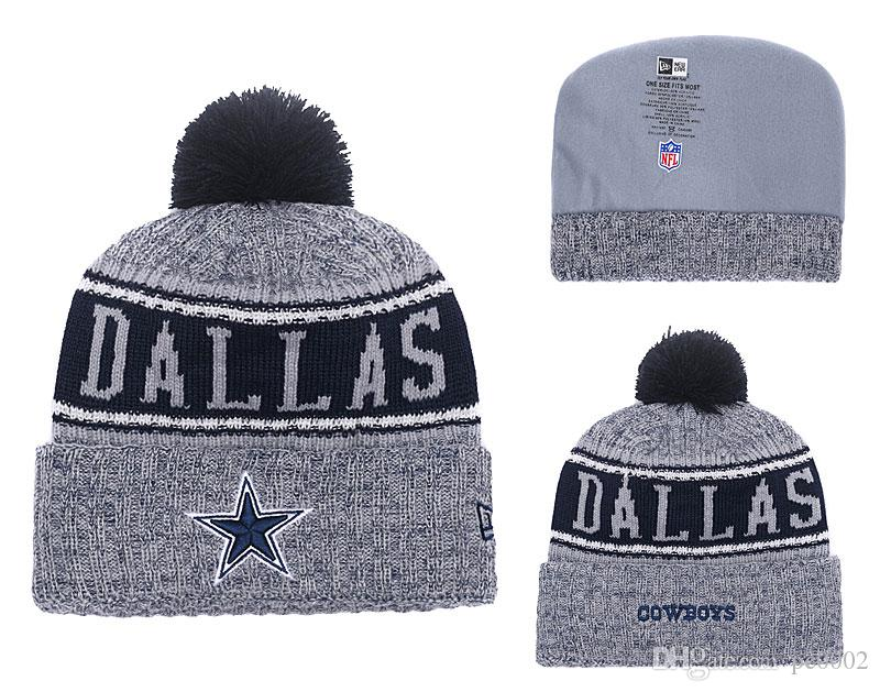 2edf43bb Men s Dallas Cowboys New Navy 2018 Sideline Cold Weather Official Sport TD  Knit Hat 02