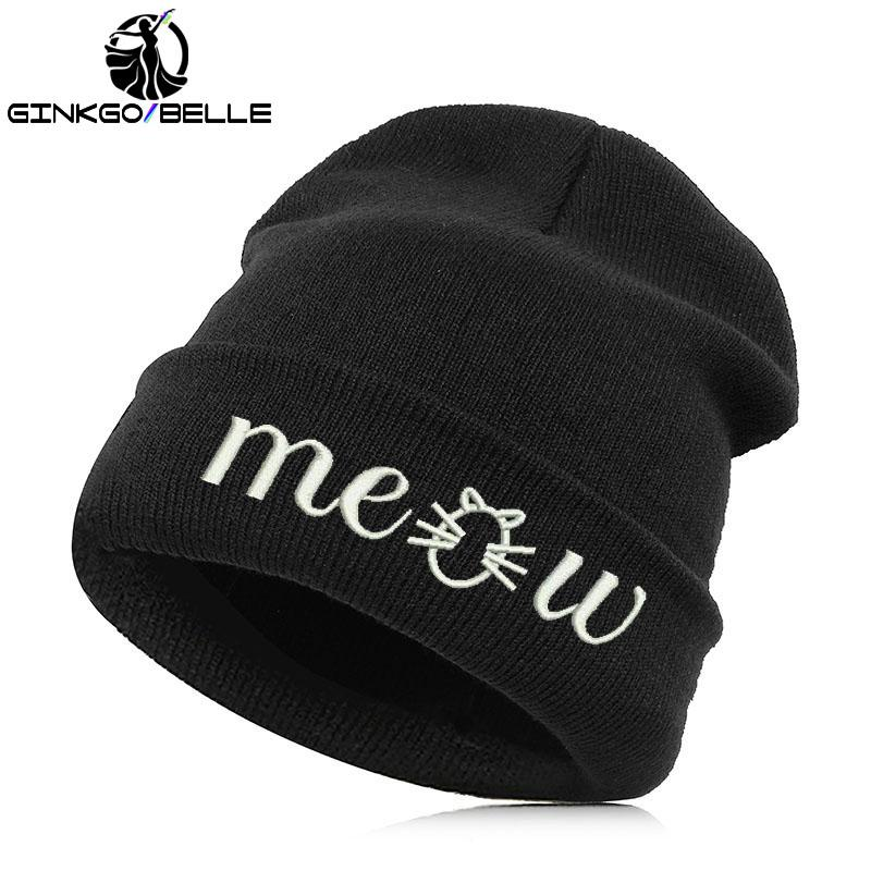 4f5bff2f26b21 Beanie Hat Skullie Cap Slouchy Winter Autumn Embroidery Cool Punk ...