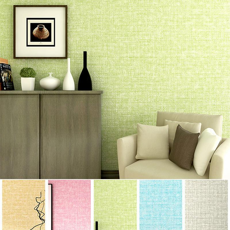 New Simple Cozy Solid Color Modern Textured Wallpaper For