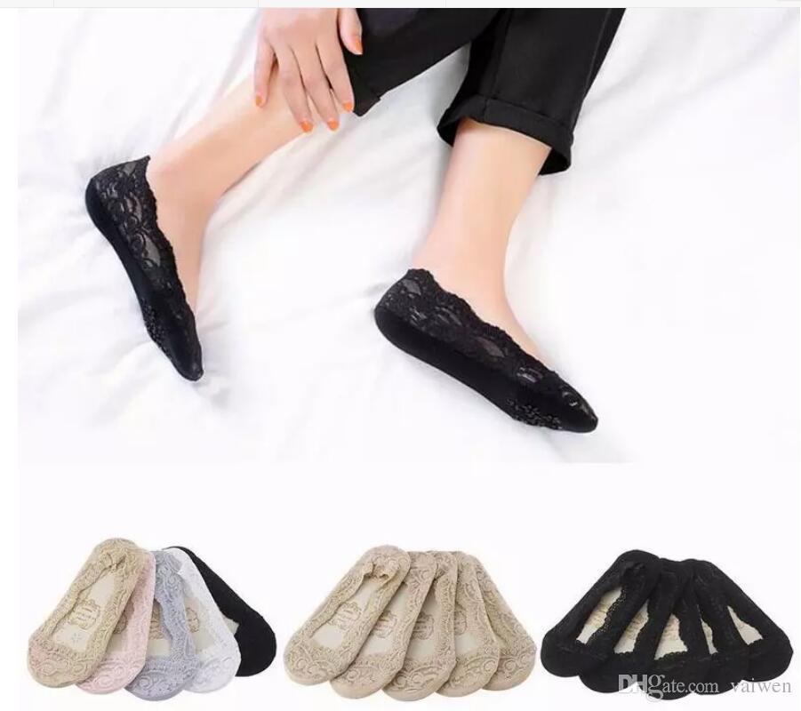 e2006a64e1940 Acheter Chaussettes Pour Dames Chaussettes Pour Dames Chaussures Pour  Femmes En Peau Pour Dames Chaussettes Invisibles En Dentelle Fine  Chaussettes Neuves ...