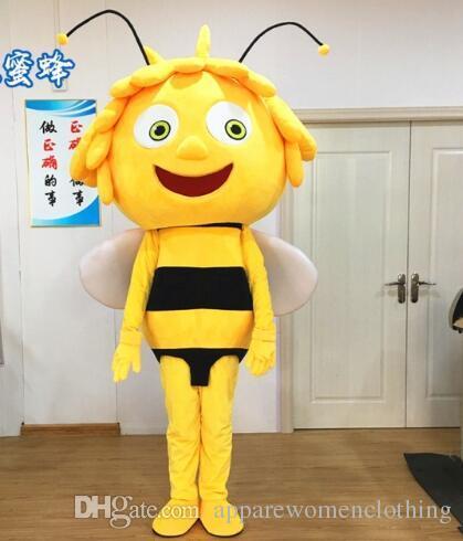 Großhandel Maya Die Biene Maskottchen Kostüm Gelbes