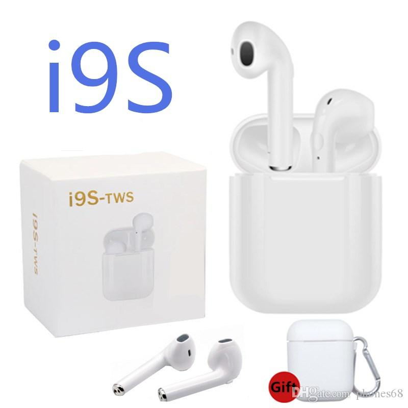 I9s TWS Twins Bluetooth Earbuds Wireless Earphones Headset with Mic Stereo  V4 2 Headphone Single side for Iphone samsung with box