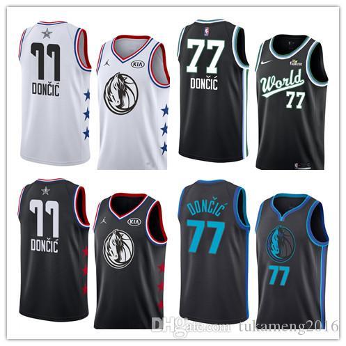 2019 2019 New Luka 77 Doncic Dallas   Mavericks Jersey Kristaps 6 Porzingis  The City Ice Rismg Stars Basketball Jerseys From Tukameng2016 5642fef99
