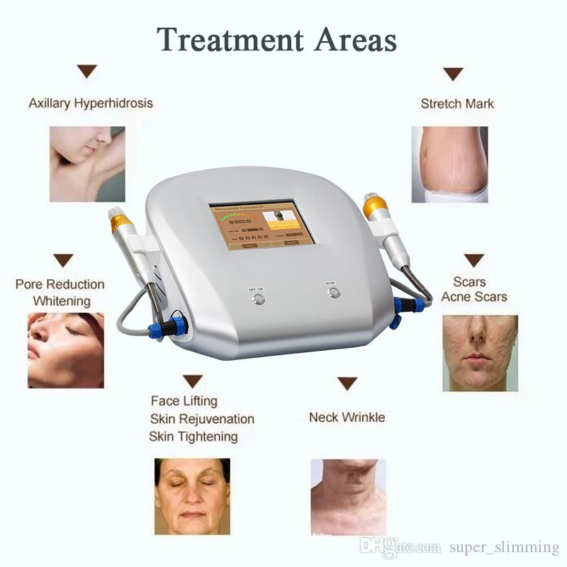 RF Microneedle Machine for Skin Tightening Salon Face Body Lifting Therapy System Portable Gold Farctional Radio Frequency Wrinkle Removal