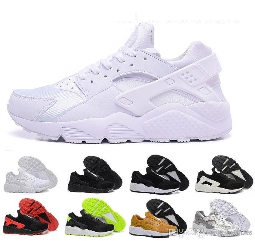 check out 4ba2d fcf13 2019 2019 Air Huarache 1.0 4.0 Men Running Shoes Stripe Red Balck White  Rose Gold Women Designer Shoes Sport Sneakers 5.5 11 From Yyrunningshoes,  ...