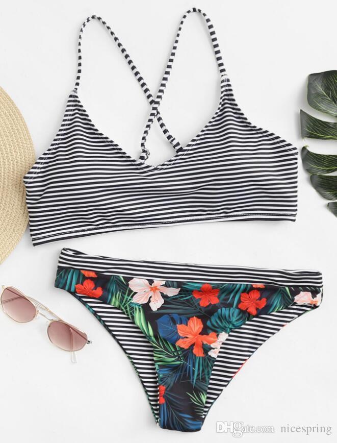 2a1a5fe322dd Traje de baño para mujeres Correa con cordones Bikinis playa de verano  traje de baño de dos piezas sexy traje de baño traje de baño de tanga  brasileña