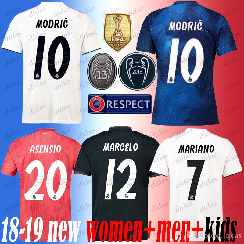 d2b1e649beb 2019 New 2019 Real Madrid 4th EA Sports Soccer Jerseys 18 19 Home MODRIC  MARCELO 2018 3rd VINICIUS JR KROOS ISCO ASENSIO BALE Football Shirts From  Didas
