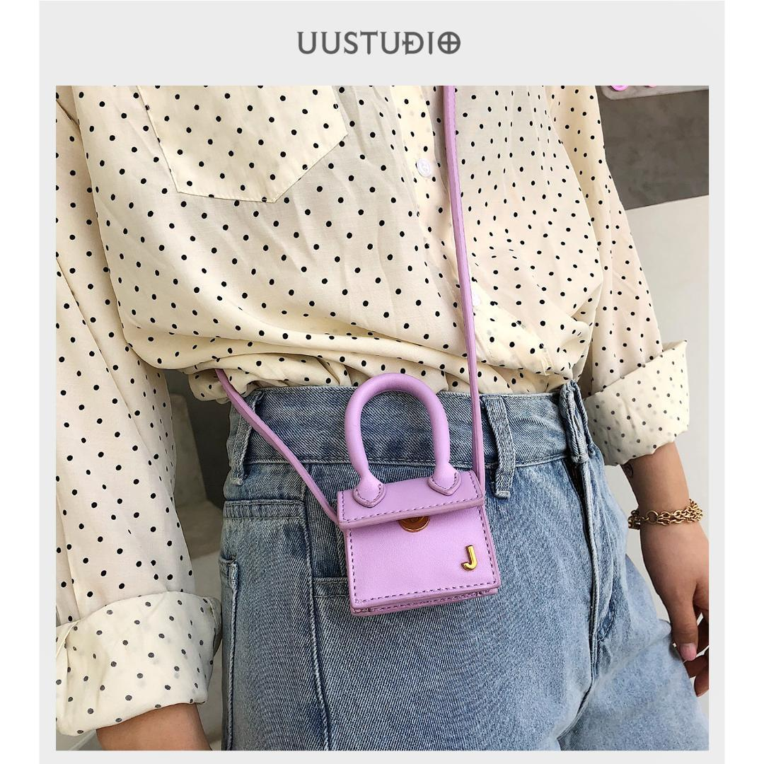 Jacquemus Mini Women Handbag Hanging Decoration Bag Female Messenger Ba Accessories Simple Hand-stitched Bag Ornament All Match