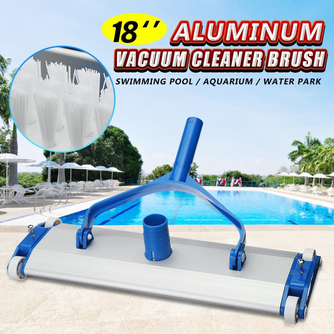 Deluxe Aluminum Alloy 18 Swimming Pool Vacuum Cleaner Brushes Flexible  Vacuum Head Brush Pool Accessories