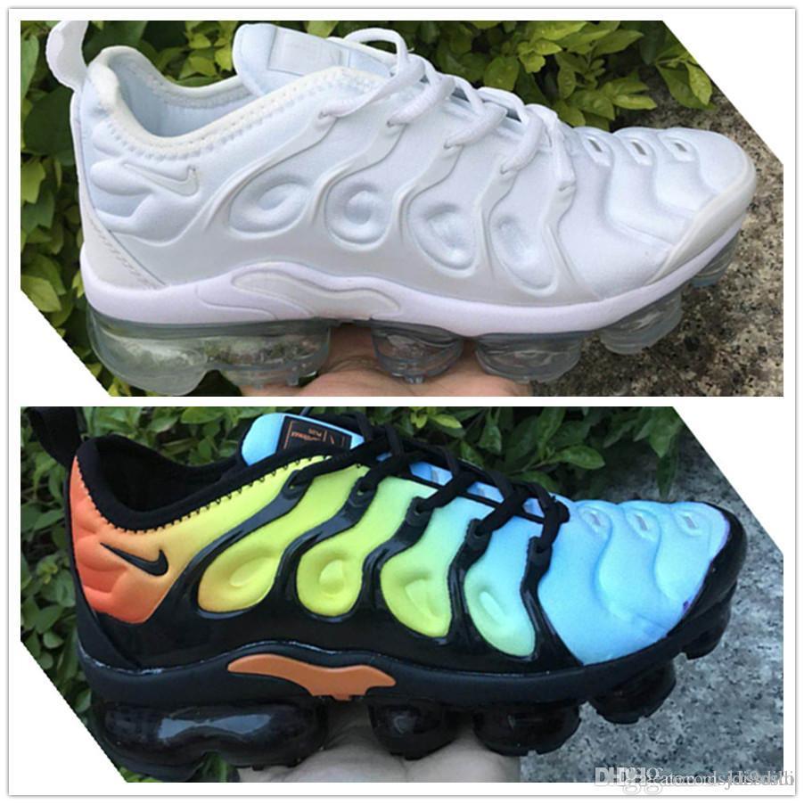 2019 Top champagnepapi Mercurial Plus Tn Ultra SE Negro Blanco Naranja Zapatos para correr Plus TN zapato Mujer Hombre Zapatillas de deporte