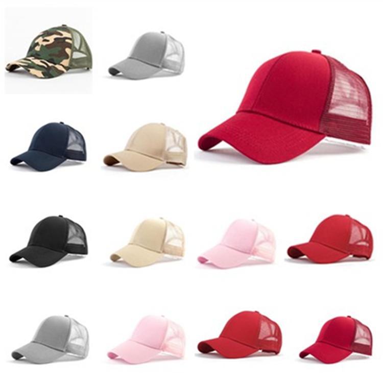 39820e2d Summer Ma'am hat Pure color sun hat cotton making Duck tongue cap Outdoor  sport baseball net cap T9H002