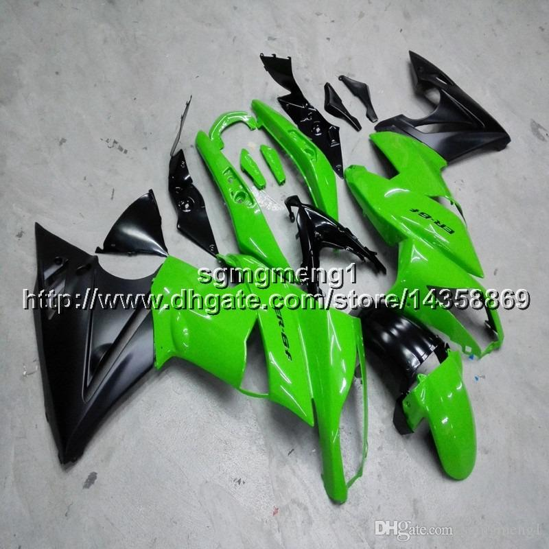 Screws+Gifts green motorcycle panels for Kawasaki ER6F 09 10 11 ER 6F 2009 2010 2011 motorcycle Fairing